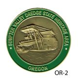 Medallion Sumpter Valley Dredge State Heritage Area
